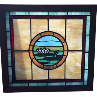Arts and crafts stained glass window