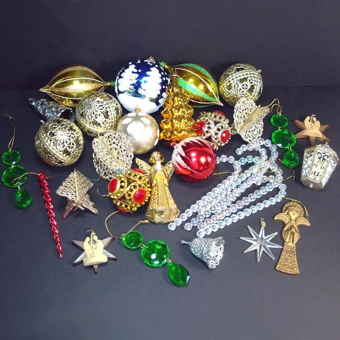1970s Plastic Christmas Ornaments