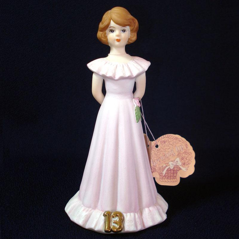 Enesco Growing Up Birthday Girl Figurine Age 13