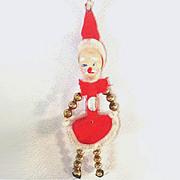 Beaded Santa Claus Elf Retro Christmas Ornament