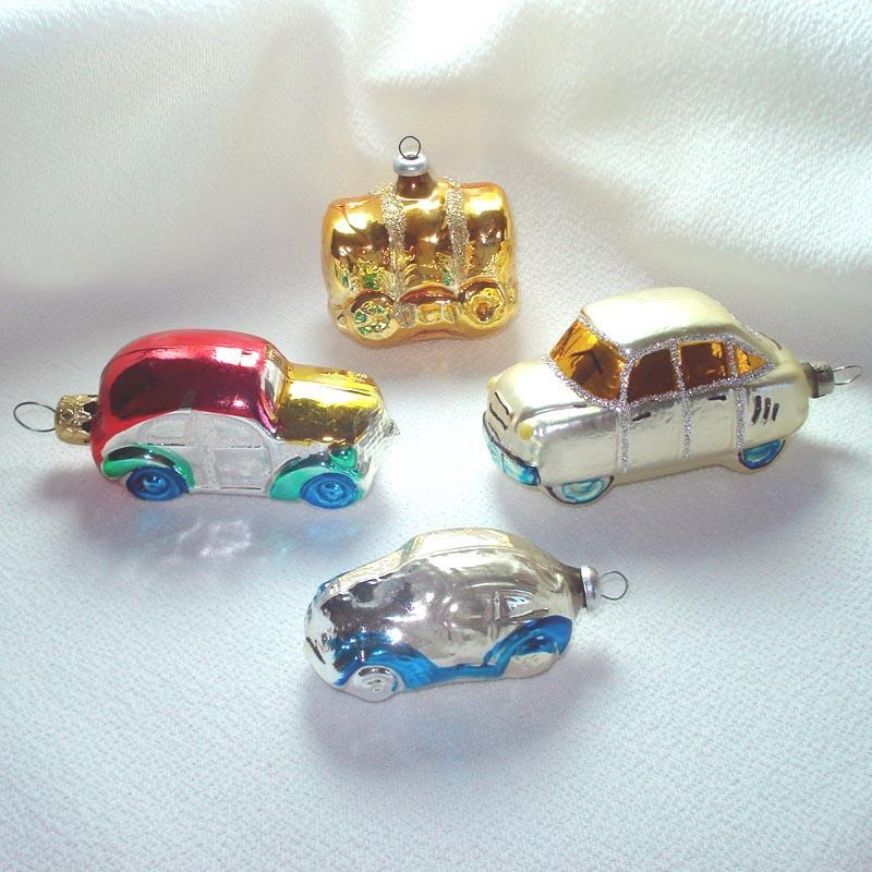 West Germany Automobile Car Glass Christmas Ornaments