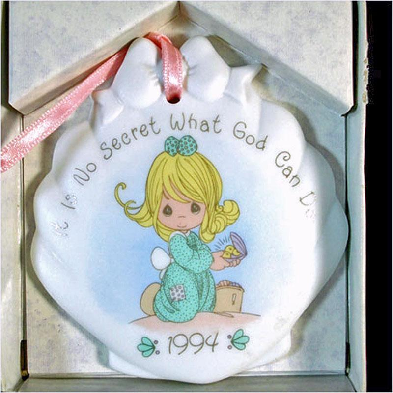 Precious Moments 1994 Porcelain Bisque Christmas Ornament MIB