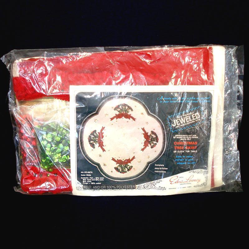 Edna Looney Jeweled Bells Christmas Tree Skirt Partial Kit