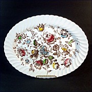 Johnson Brothers Staffordshire Bouquet Oval Serving Platter