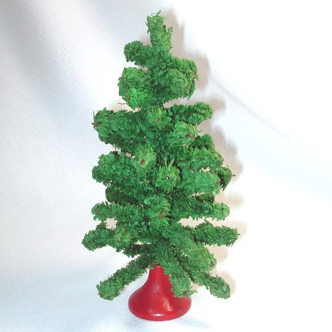 1930s Small Tabletop Artificial Christmas Tree
