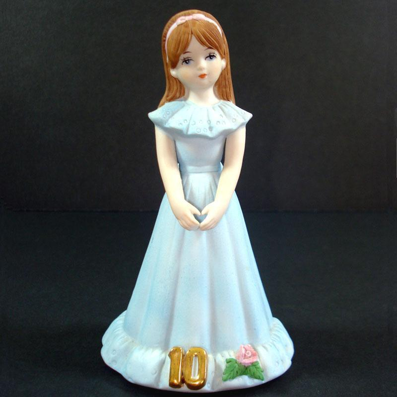 Enesco Growing Up Birthday Girl Figurine Age 10