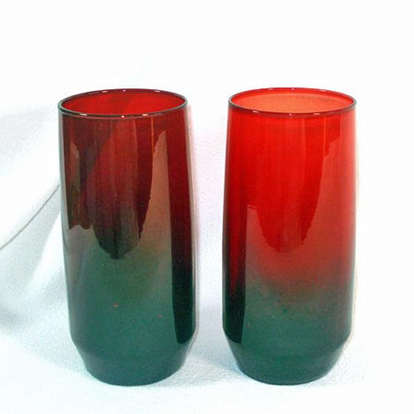 Anchor Hocking Pair 16 Ounce Royal Ruby Ice Tea Tumblers