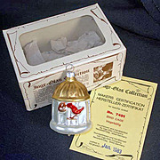 Inge 1983 Bird in Birdcage Glass Christmas Ornament Mint in Box