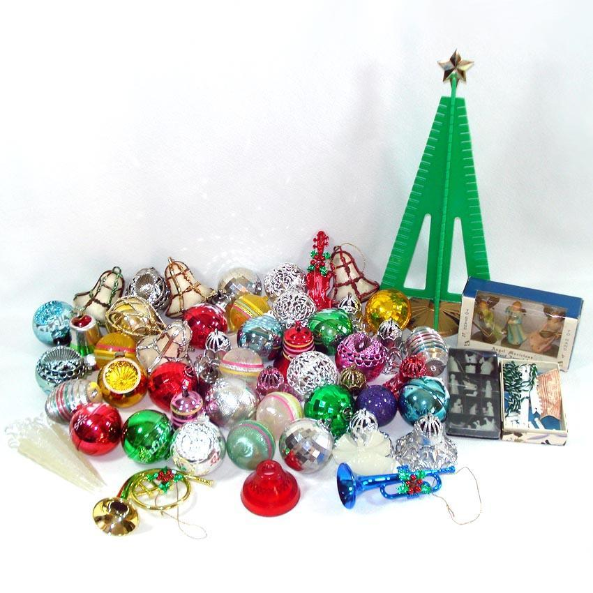 Lot Vintage Bradford Plastic Christmas Ornaments Decorations