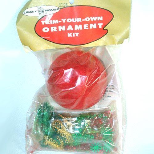 Craft House Sparkle Apple Pin Beaded Sequin Christmas Ornament Kit
