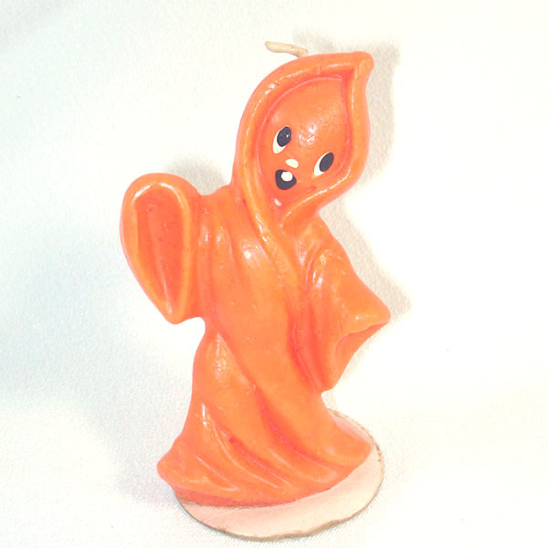 Gurley Orange Halloween Ghost Figural Candle