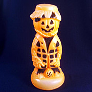 Scarecrow Pumpkin Man Halloween Blow Mold Decoration