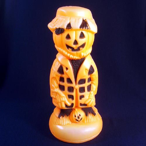 scarecrow pumpkin man halloween blow mold decoration copperton lane antiques and collectibles ruby lane