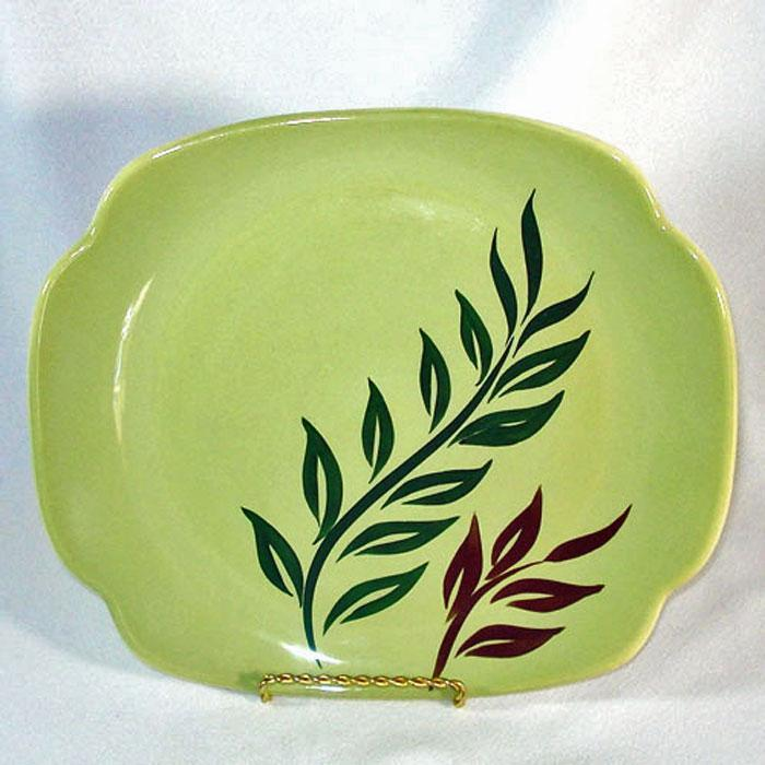 Continental Kilns 1950s Tropical Serving Platter