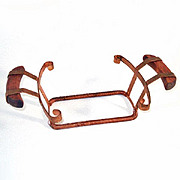 Expanding Copper And Wood Casserole Holder Cradle