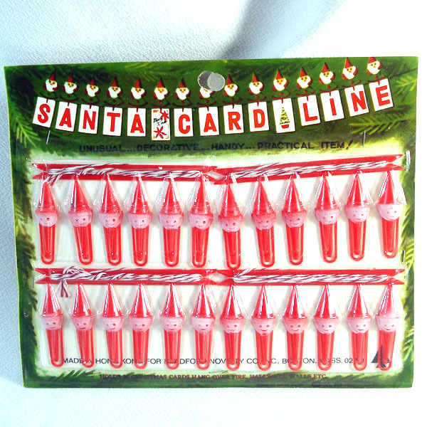 Bradford 1960s Santa Card Line Christmas Cards Hanging Display Mint