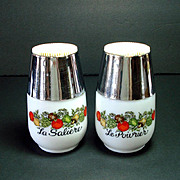 Gemco French Spice of Life Salt Pepper Shakers Corning Go Withs