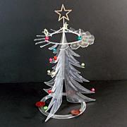 1950s Rare Crystalite Candle Powered Plastic Christmas Tree