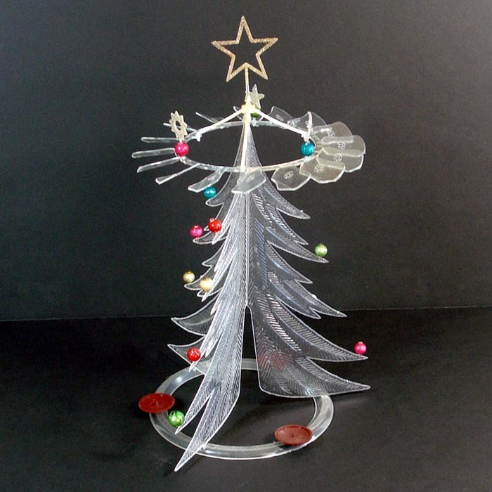 1950s Rare Crystalite Candle Powered Plastic Christmas Tree