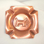 Craftsman Studios Copper Scottie Scotty Dog Ashtray