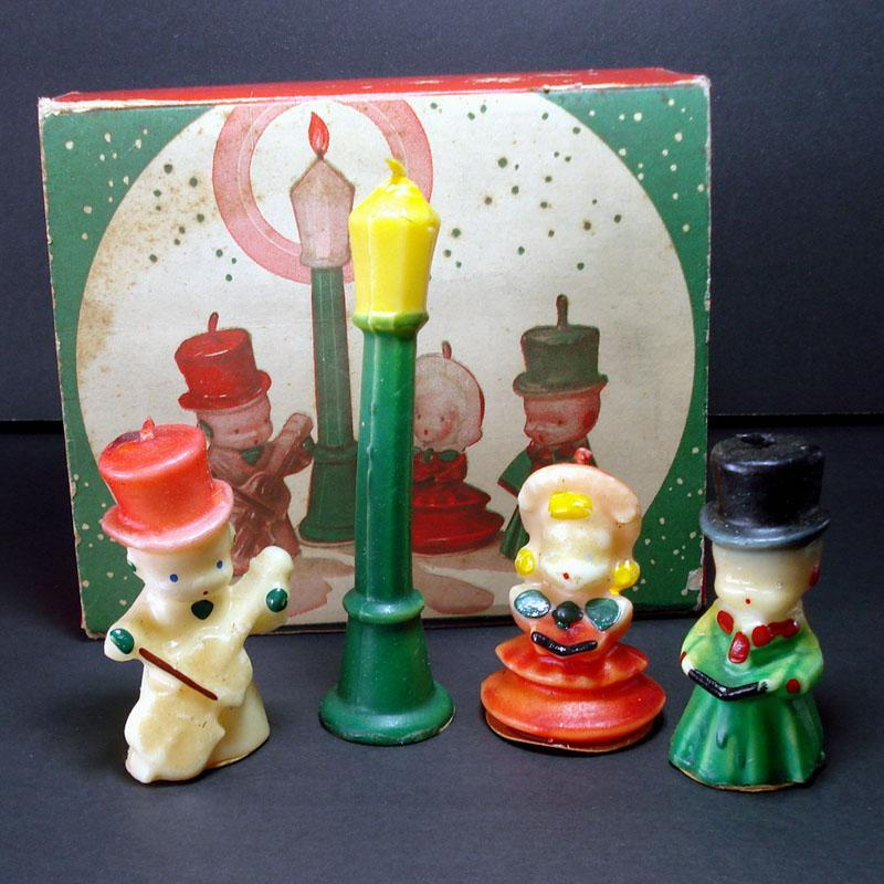 Tavern The Carollers Christmas Candle Set In Original Box