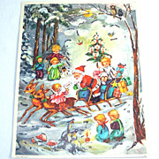 Santa With Children Western Germany Christmas Advent Calendar