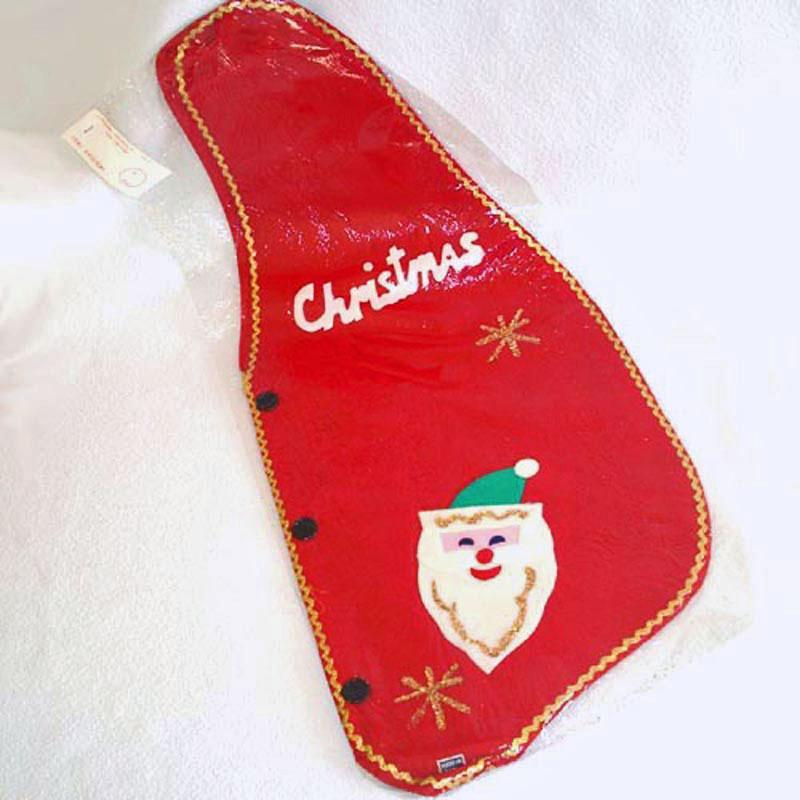 1960s Japan Felt Merry Christmas Santa Vest Mint in Package