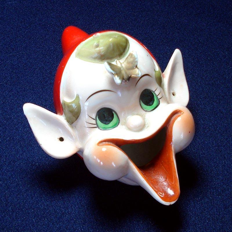 1940s Rudolph Red Nose Reindeer Perfume Cologne Bottle