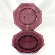 Violets on Pink Porcelain Eggs Salt and Pepper Shakers