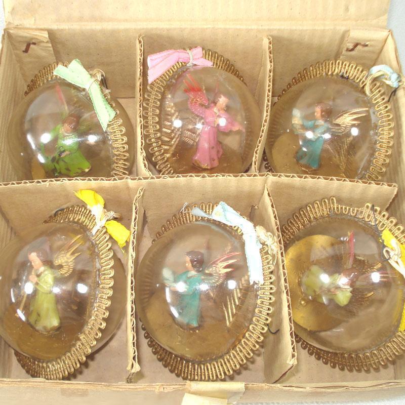 Bubble Angels Plastic Christmas Ornaments in Original Box