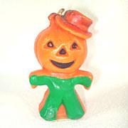 Gurley Jack O Lantern Man Figural Halloween Candle