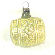 1920s Feather Tree Wine Casket Barrel Glass Christmas Ornament