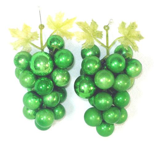 Decorative Green Glass Grape Clusters