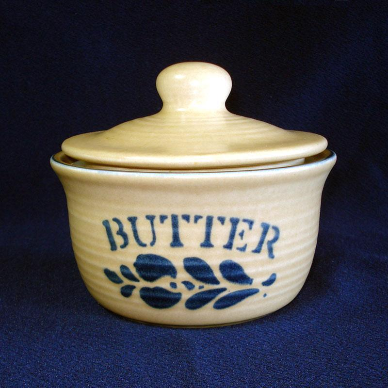Pfaltzgraff Folk Art Covered Butter Tub