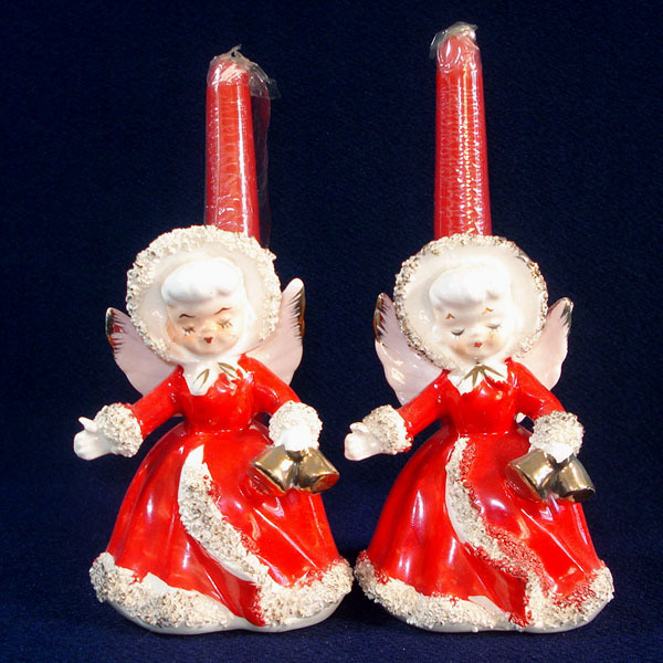 Relco Spaghetti Angels Christmas Candle Holder Figurines
