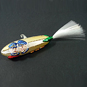 Kaiser Wilhelm Zeppelin Blimp Glass Christmas Ornament