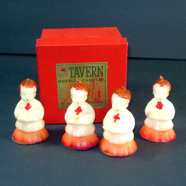 Box 4 Tavern Choir Boys Figural Christmas Candles
