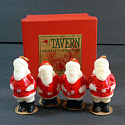 Tavern 1940s Christmas Santa Claus Candles in Original Box