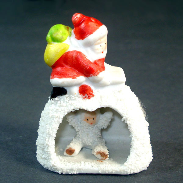 Christmas Snowbaby in Igloo With Santa On Roof Japan Snowbabies Figure