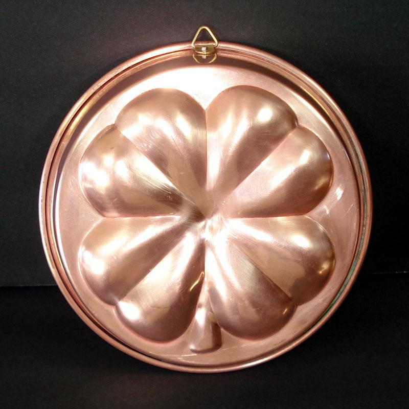 Copper Shamrock 4 Leaf Clover Kitchen Mold