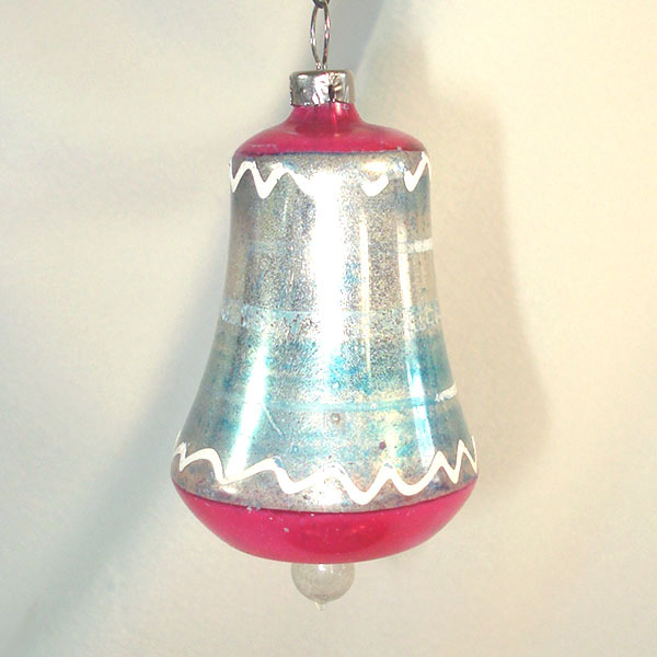 German antique free blown bell glass christmas ornaments