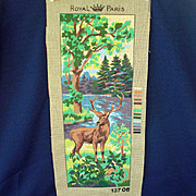 Deer in Forest Royal Paris Needlepoint Canvas To Finish