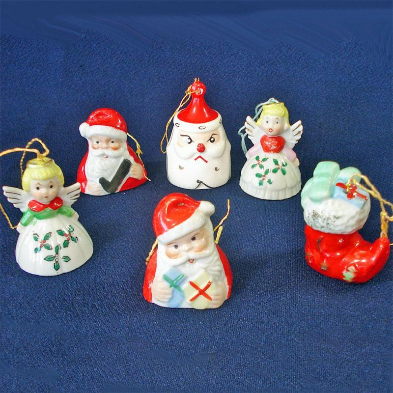 3 Pine Cone People 1950s Christmas Figures