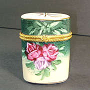 Baum Bros. Formalities Porcelain Roses Hinged Trinket Box