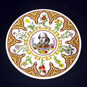 Wedgwood Flowers From Shakespeare 10 Inch Plate