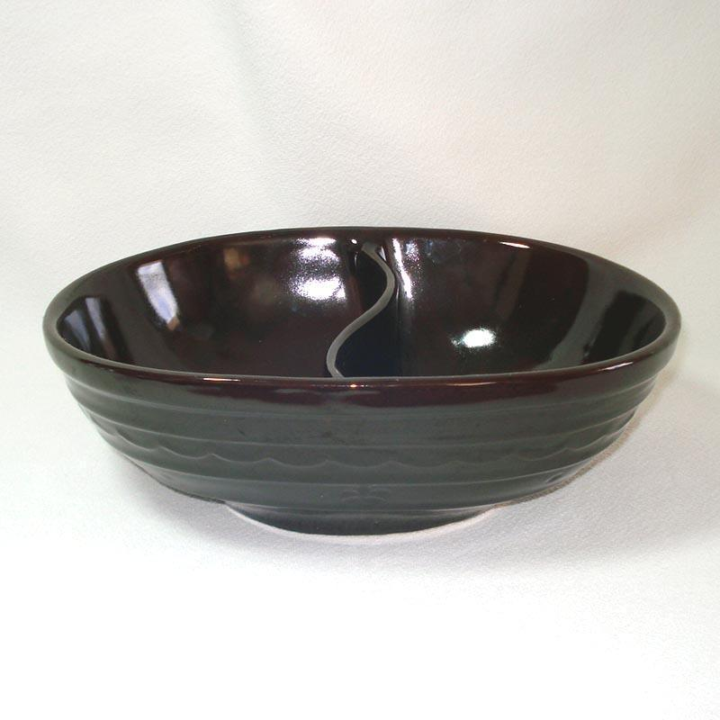 Marcrest Daisy Dot Stoneware Divided Vegetable Bowl Mint