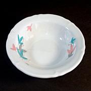 2 Shenango 1950s Pink Blue Leaves Restaurant Ware Bowls
