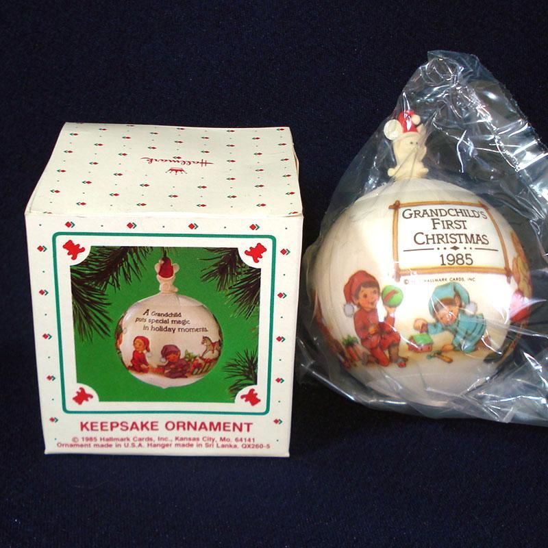 hallmark 1985 grandchild u0026 39 s first christmas ornament mint in box from coppertonlane on ruby lane