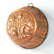 Kreamer Domed Copper Jelly Mold With Fruit