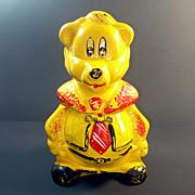 California Originals 1940s Yellow Bear in Necktie Cookie Jar